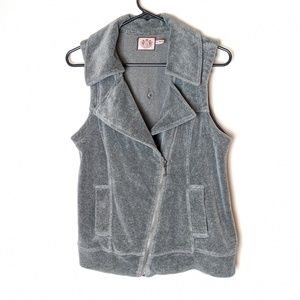 Juicy Couture grey vest, women's size medium